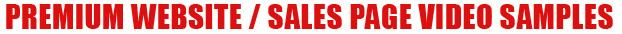 Premium Website - Sales Page Videos